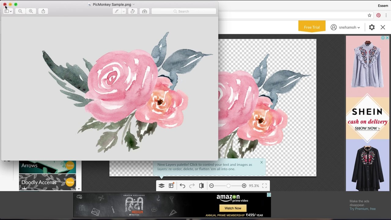 How to Create a Digital Watercolor Bouquet on PicMonkey - Essem