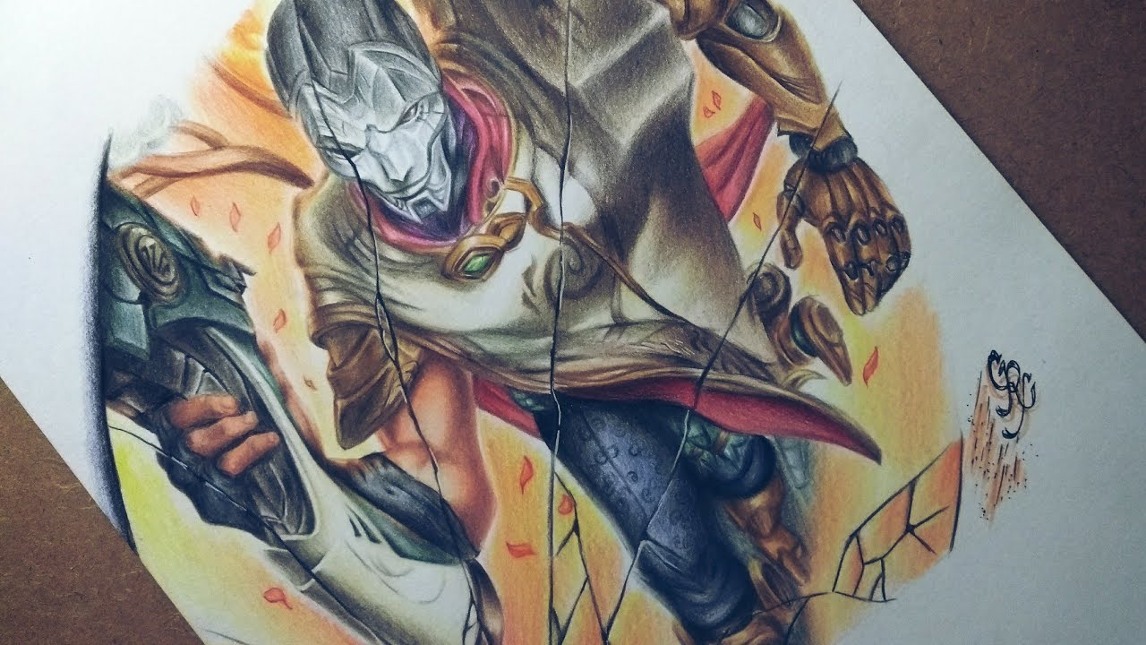 Desenhando Jhin League Of Legends Collab