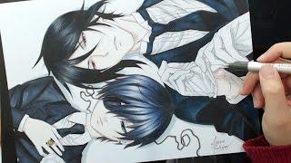 Speed Drawing - Ciel and Sebastian (Kuroshitsuji)