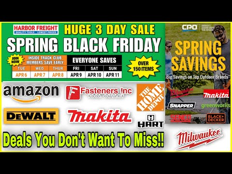 Harbor Freight Spring Black Friday Event! & Milwaukee DeWALT Makita Hart Online Need To Know Deals!