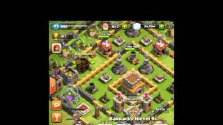 Clash of clans lv 8 th base set up