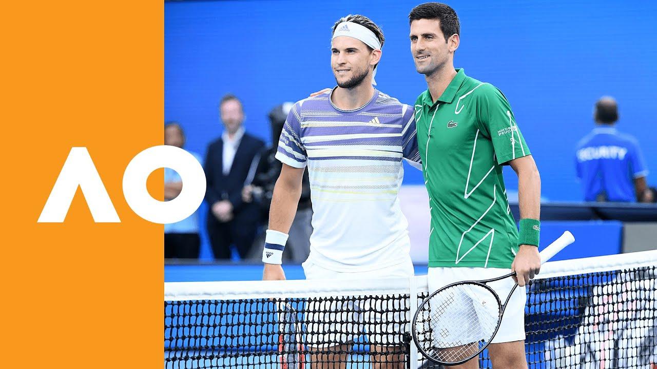 Novak Djokovic And Dominic Thiem Enter Rod Laver Arena Australian Open 2020 Final Youtube
