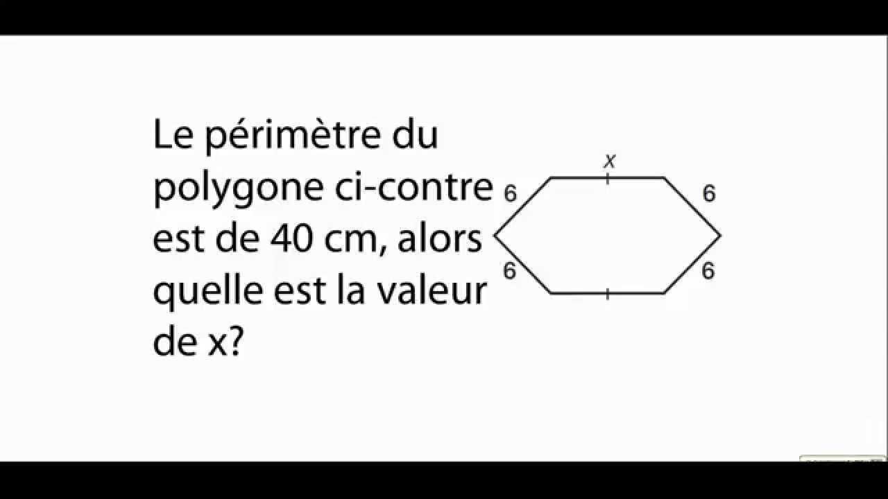 P U00e9rim U00e8tre D U0026 39 Un Polygone