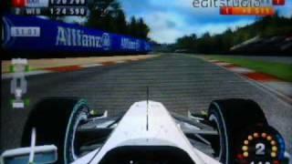 F1 2009 wii incidente monza gameplay