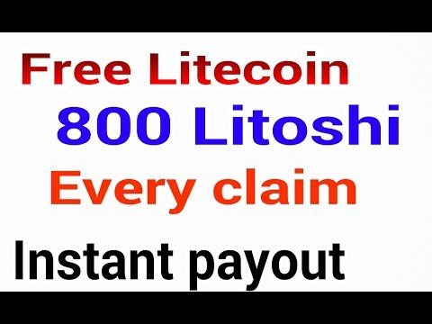 Free Litecoin 800 Litoshi every claim instant payout - you tube