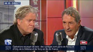 Steve Bannon était face à Jean-Jacques Bourdin en direct sur RMC