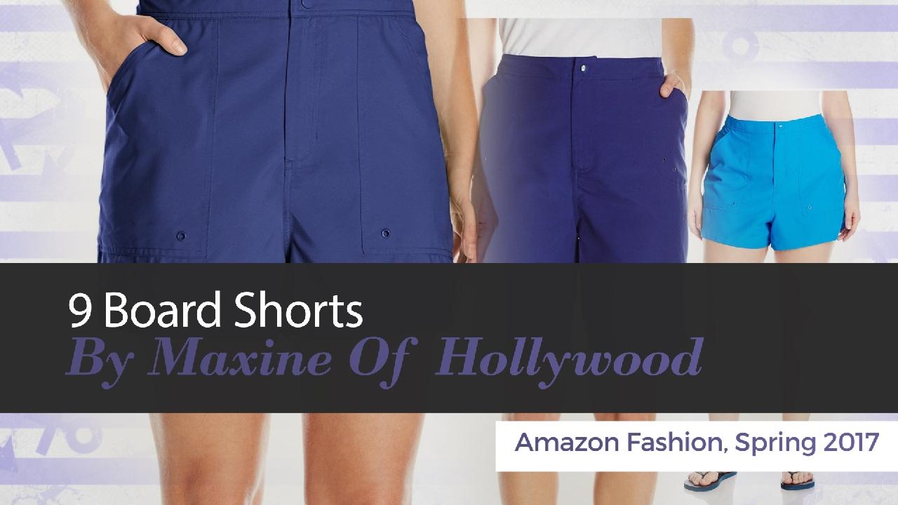 ab0b1b3b2a 10 Board Shorts By Maxine Of Hollywood Amazon Fashion, Spring 2017 ...