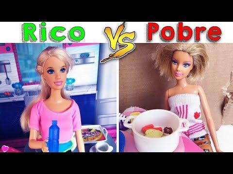 Rico VS Pobre | Versão Barbie | ft.Midge Freitas - Cherry Miniaturas