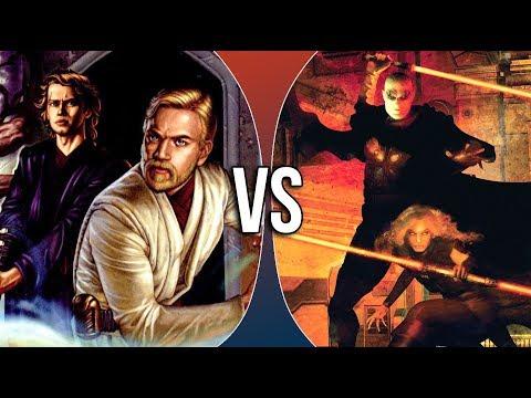 VS | Obi-Wan Kenobi & Anakin Skywalker vs Darth Bane and Darth Zannah