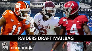 Raiders Draft Rumors: Trade Up For Simmons? CeeDee Lamb vs. Jerry Jeudy, Draft Trade? + Chase Young