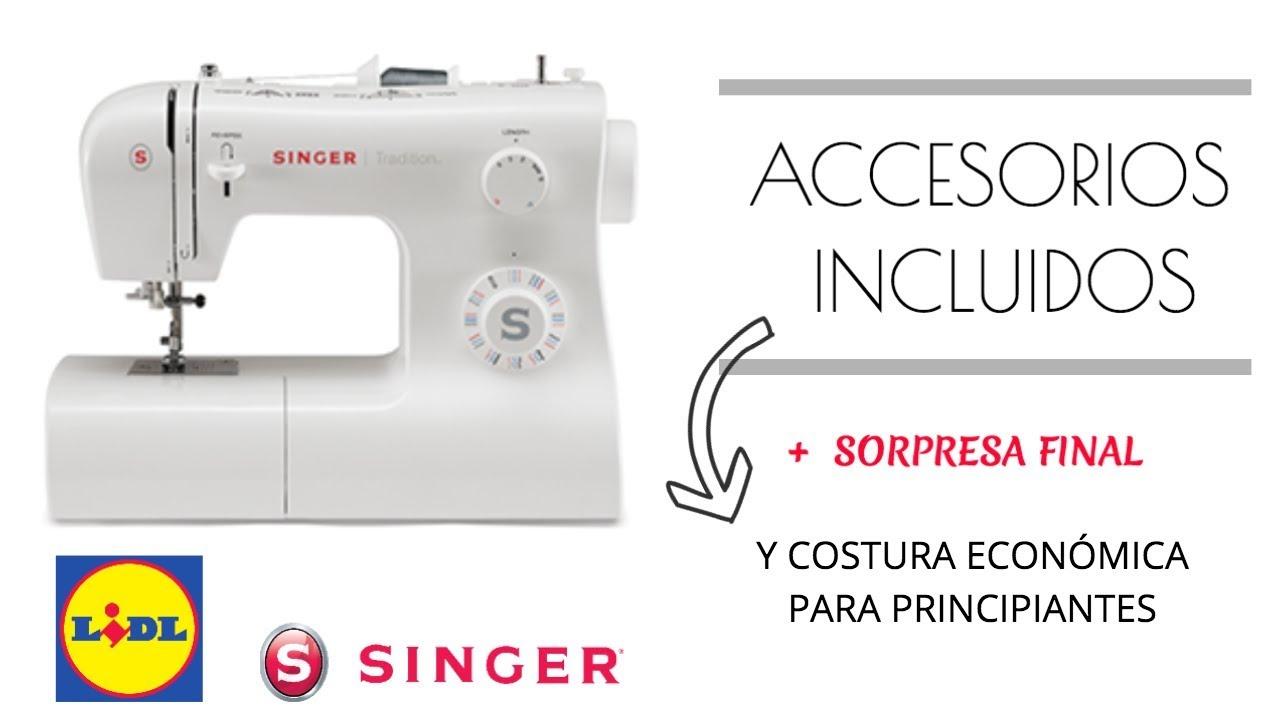 MÁQUINA SINGER TRADITION LIDL// ACCESORIOS INCLUIDOS // SORPRESA ...
