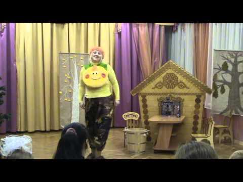 Сказка Колобок в исполнении родителей, детский сад №621