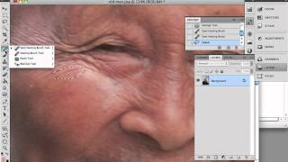 Photoshop CS5 - Spot Healing Brush Tool(http://www.killersites.com/ In this video tutorial from our Photoshop CS5 Disc 2 course, we complete our look at the healing brush tool with showing you how to ..., 2010-10-07T22:07:11.000Z)