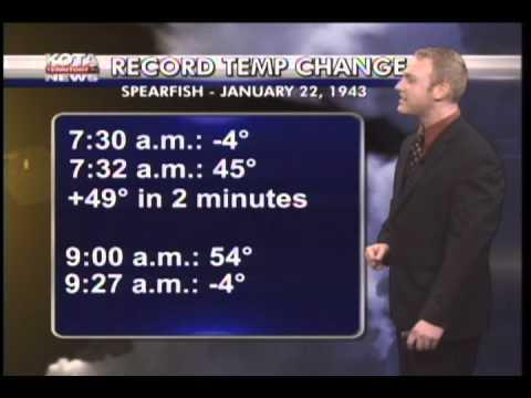 Weather Segment W/ World Record Temperature Change