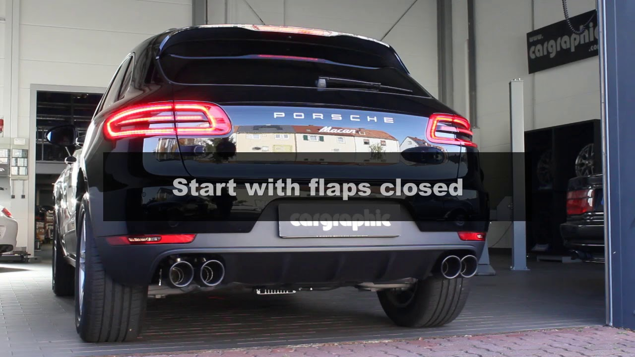 Porsche Macan 2 0l R4 Cat Back Flap Exhaust System By Cargraphic Youtube