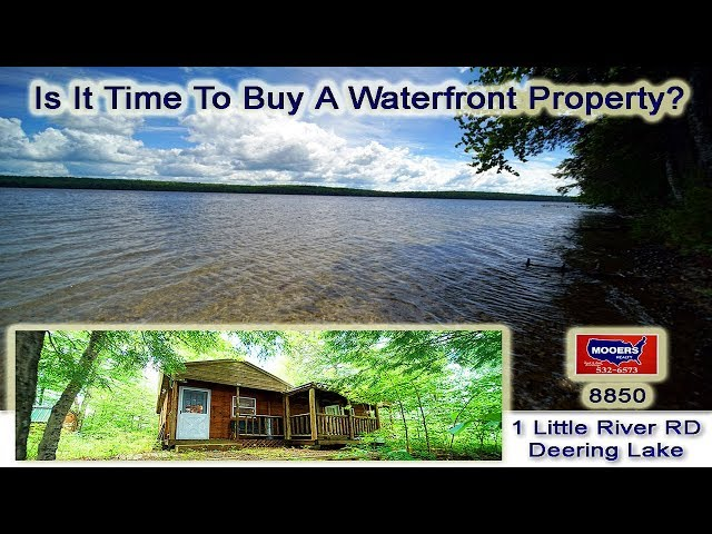 Lake Properties For Sale In Maine | 1 Little River Cove RD Deering Lake MOOERS REALTY #8850
