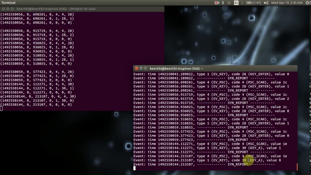Exploring /dev/input | The hacker Diary