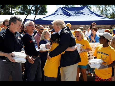 Trump gets first-hand look at Hurricane Florence distress