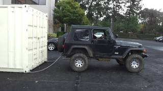 Pulling 40' Container With My Jeep