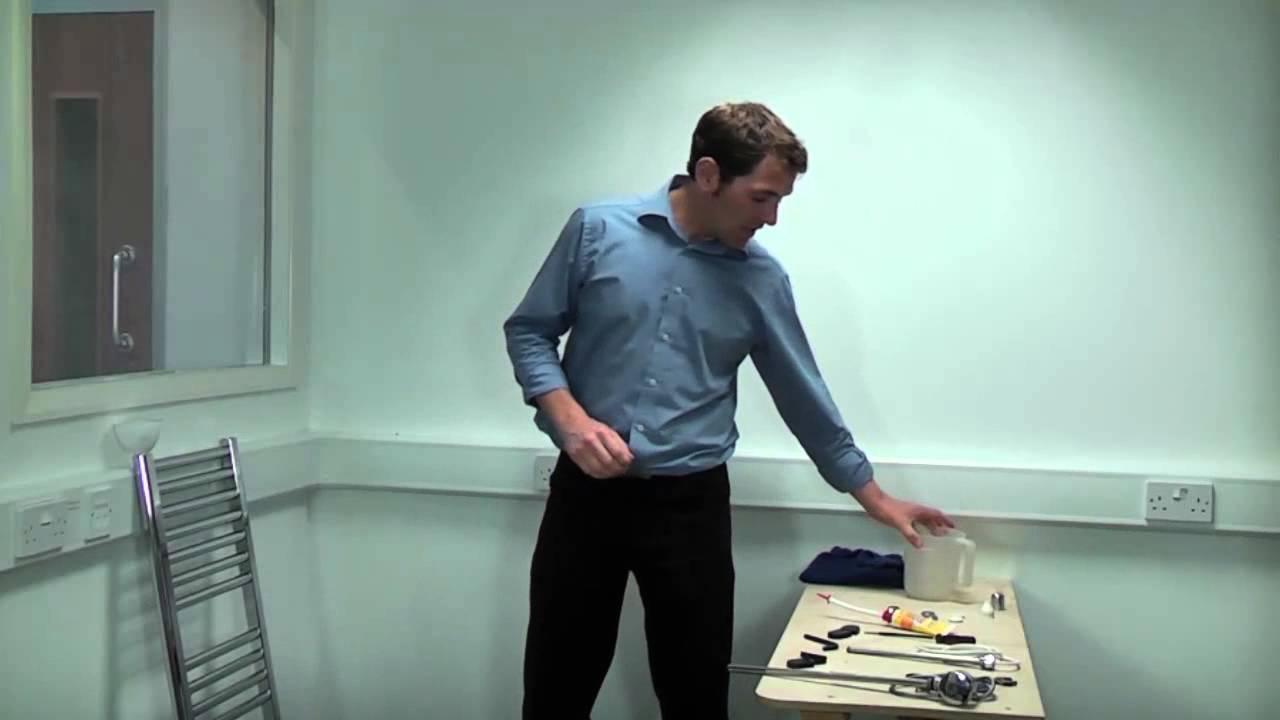 Electrifying a heated towel rail - YouTube