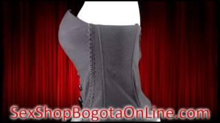 Corset clasico tela sexy sensual economico - Tienda Sex Shop Bogota Online Domicilios Envios