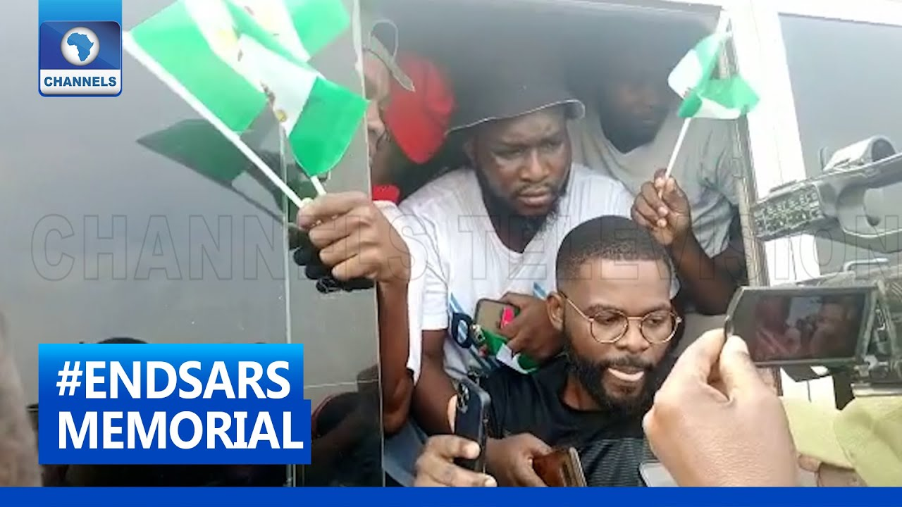 Download #ENDSARS Memorial: Musician Falz Seen As More Youths Join Procession