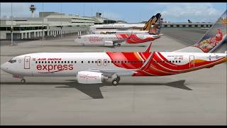BOEING 737 800WL AIR INDIA EXPRESS TAKE OFF FROM SINGAPORE CHANGI INTL AIRPORT FS9 HD