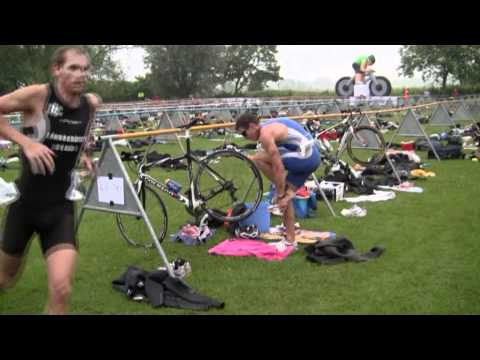 Daniel Sims using OXYfit oxygen in a can at British Sprint Triathlon Championships 2010 Part 2