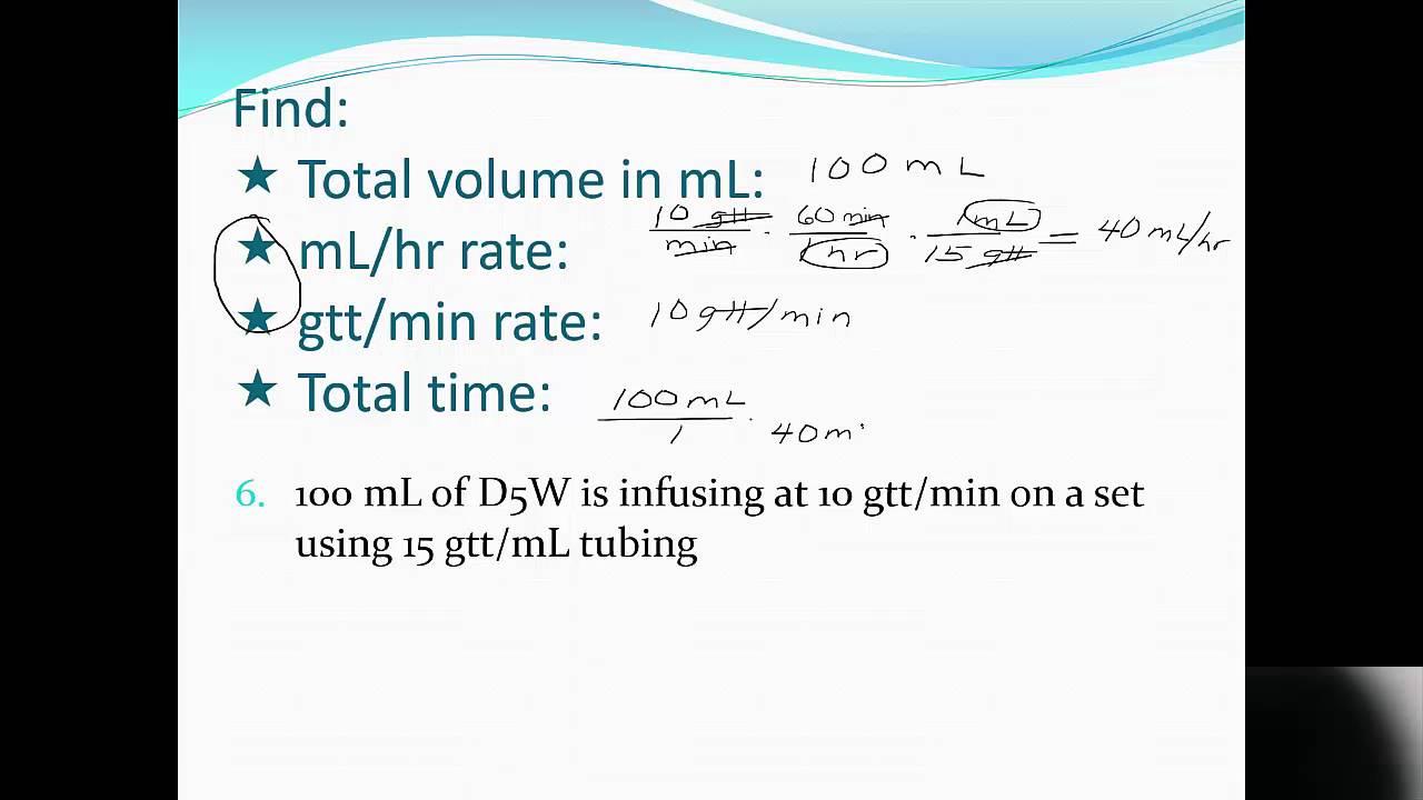 IV in gtt/min - YouTube