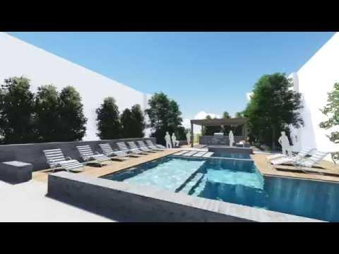 Pool Courtyard Study