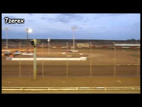 Challenge Cup Sprint Cars Heat 2 Canyon Speedway Park 5-24-2014