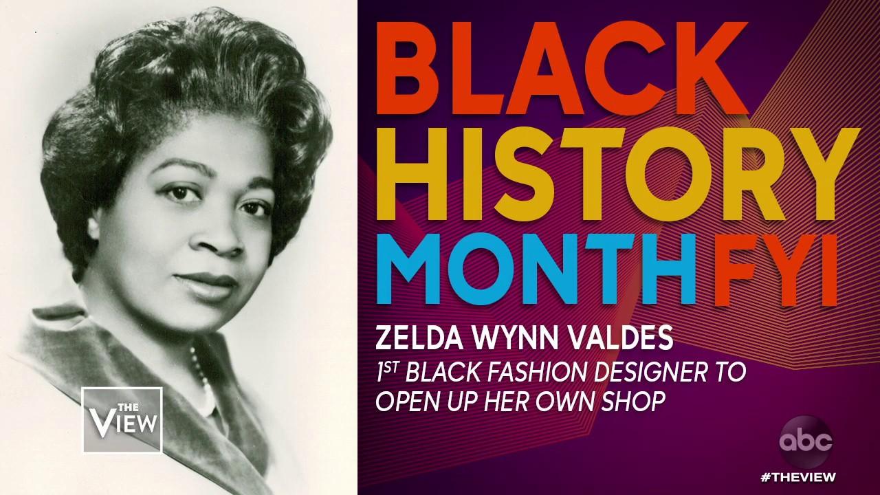Black History Month Fyi Zelda Wynn Valdes The View Youtube