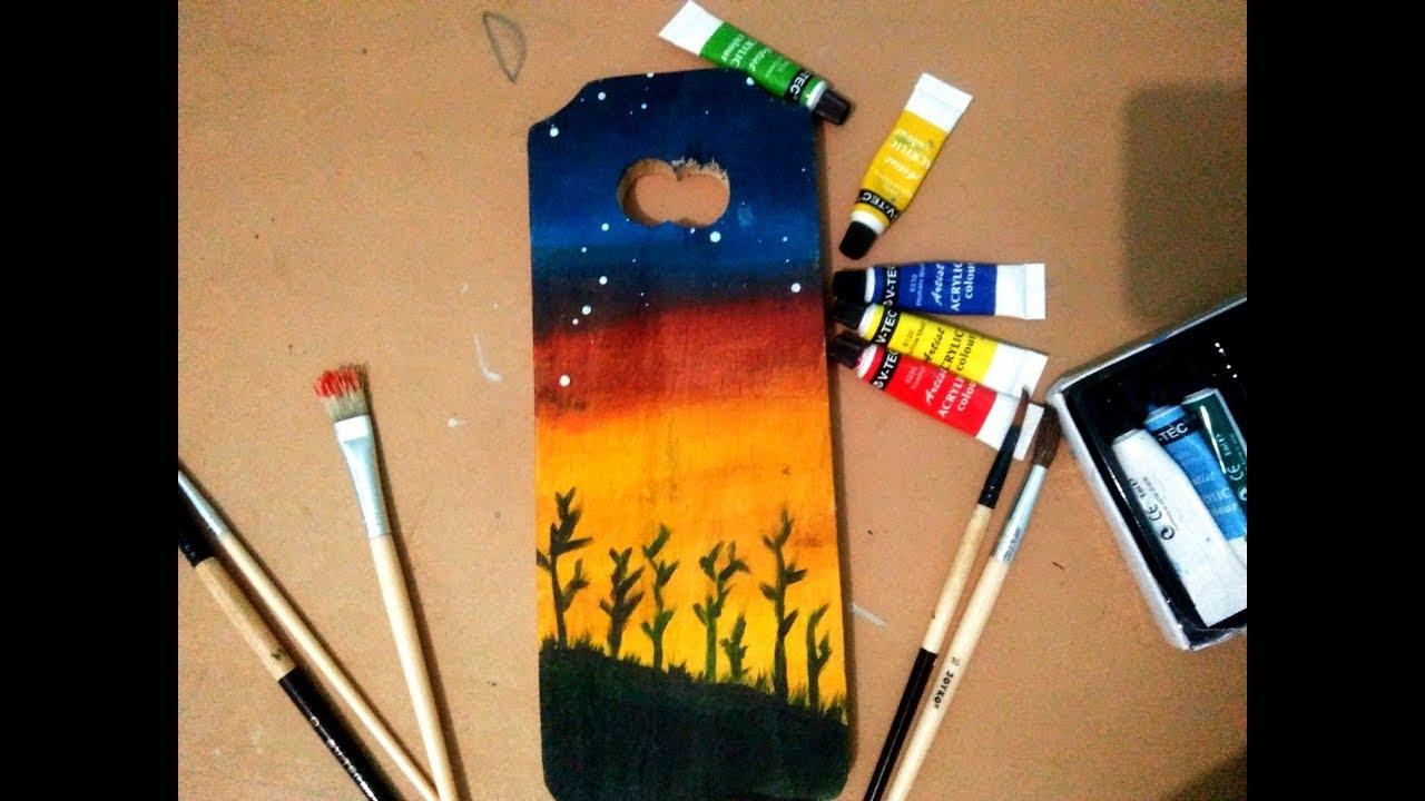 Tutorial Melukis Diatas Talenan Kayu How To Paint In Wood