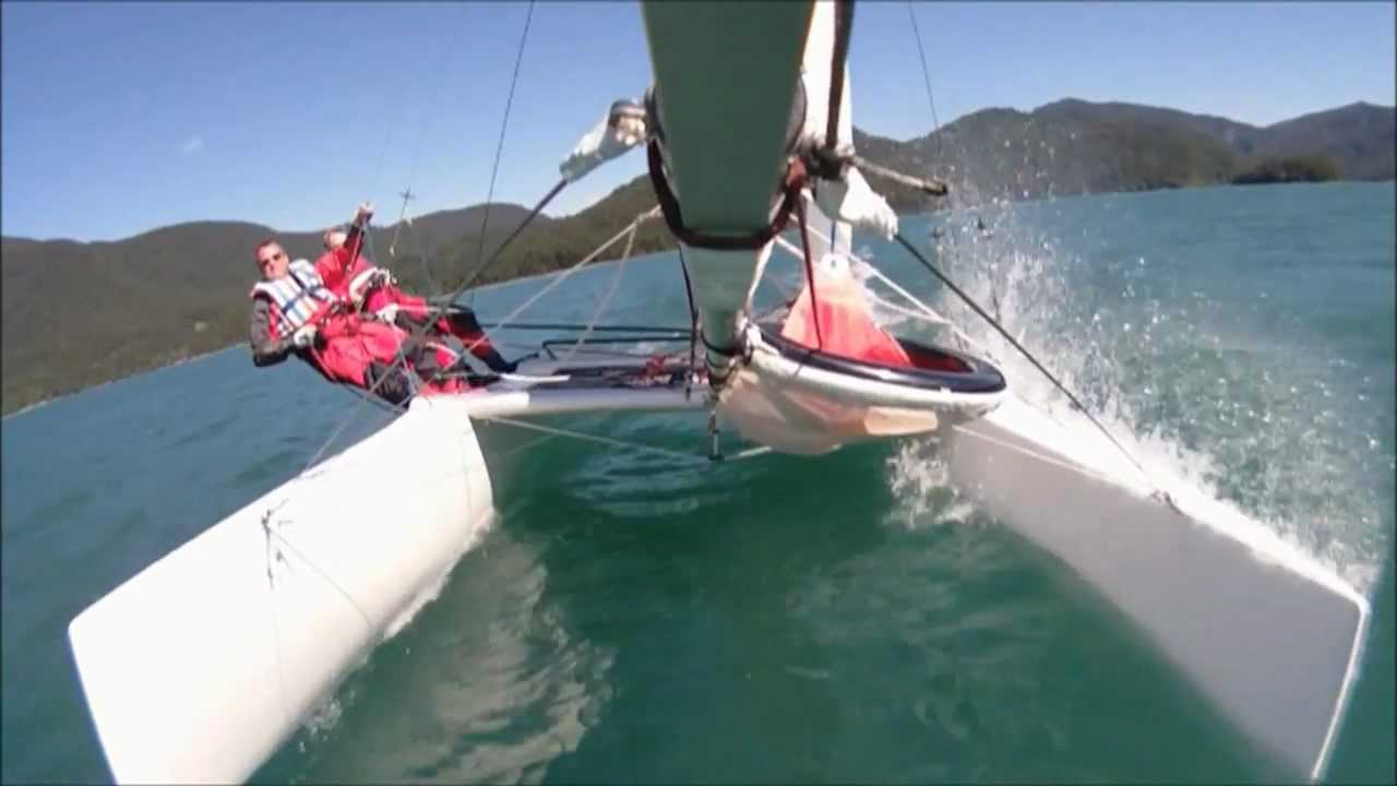 Katamaran segeln  Katamaran segeln Walchensee 2012 [HD] - YouTube