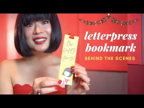 What Makes The Letterpress Bookmark So Special? - A Gift Of Happiness