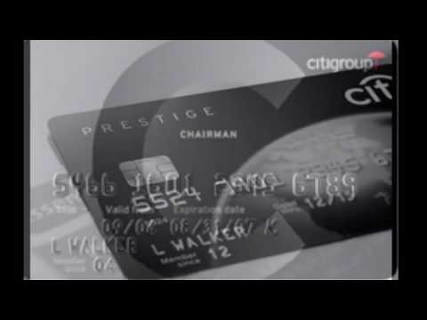 Citigroup Black Chairman Card
