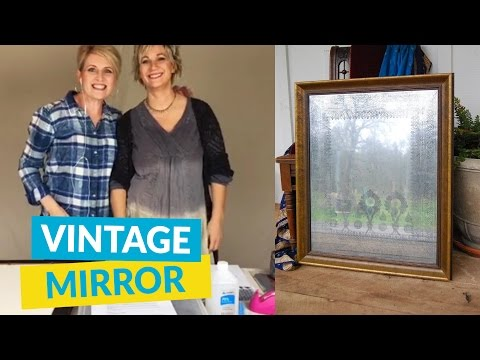 DIY Anthropologie Inspired Vintage Mirror