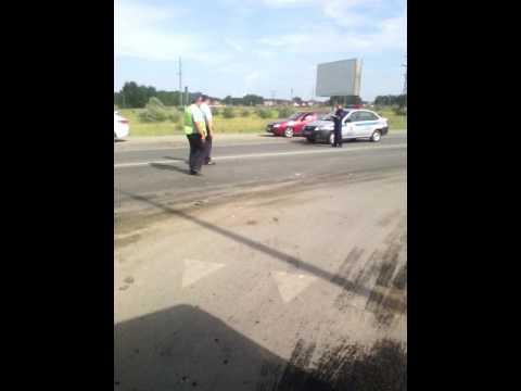Авария город Южноуральск много полиции капец.