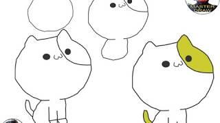 4 Langkah Mudah Menggambar Kucing Imut