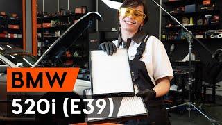 Salona filtrs uzstādīšana BMW 5 (E39): bezmaksas video