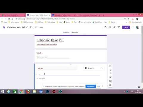 Teacher Odah: Membina Borang Kehadiran menggunakan Google Form