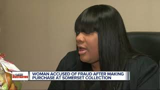 Woman accused of fraud after making purchase at Somerset Collection