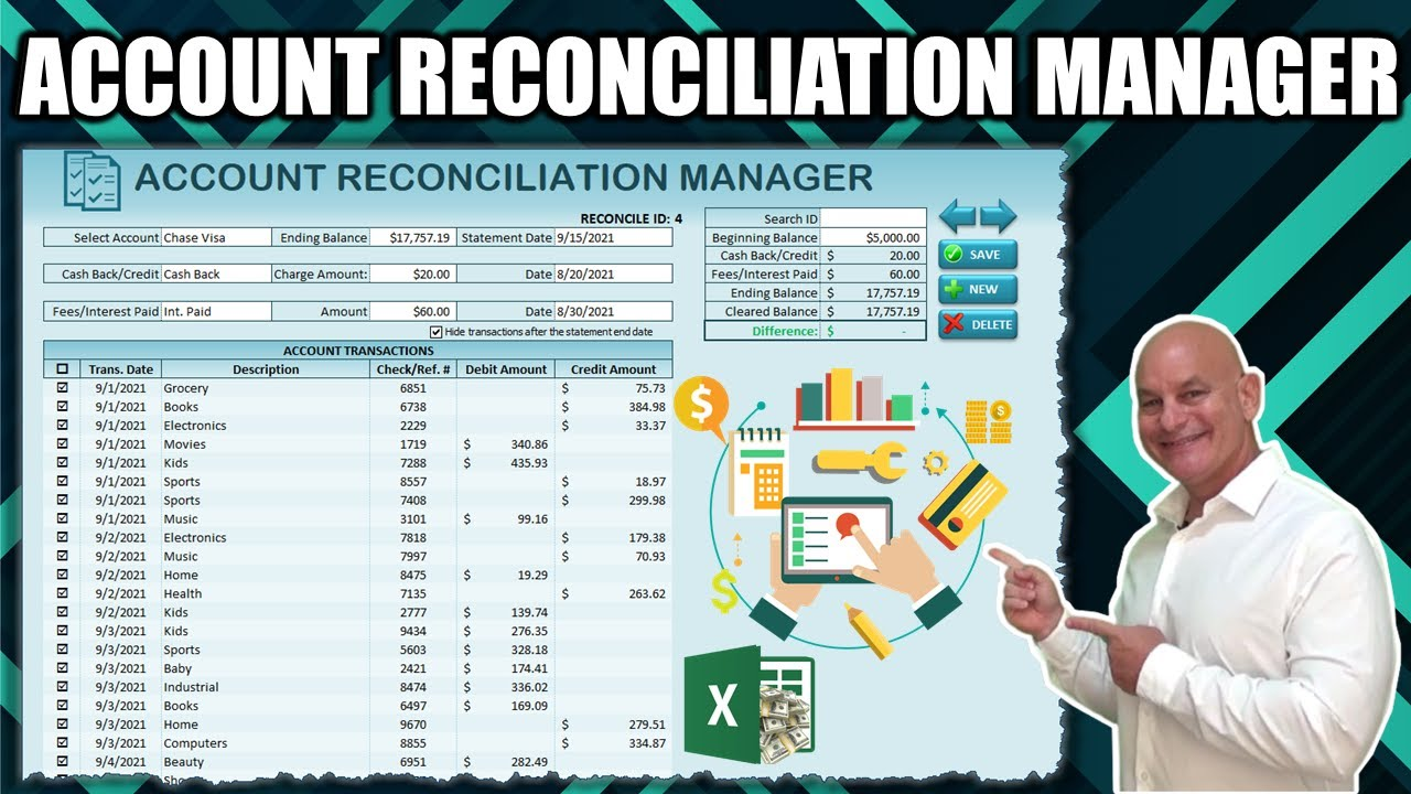Download Learn How To Create Your Own Account Reconciliation Application In Excel From Scratch +FREE Download