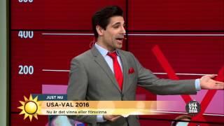 Marcus Oscarsson analyserar nattens USA-val - Nyhetsmorgon (TV4)