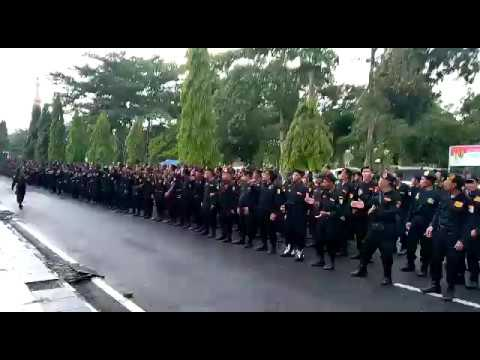 Apel 100 ribu Banser di Kajen, kab Pekalongan yang di hadiri presiden jokowi