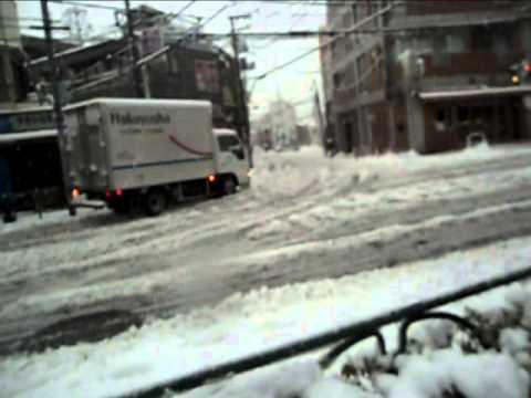 Япония. Зима и снег в Токио 01.2013 часть 1