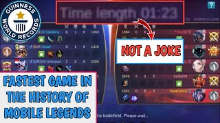 FASTEST GAME IN THE HISTORY OF MOBILE LEGENDS | MOBILE LEGENDS