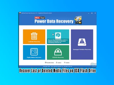 Recover Lost or Deleted Media Files on USB Flash Drive - YouTube