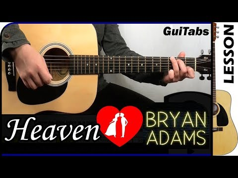 How to play Heaven 💑 - Bryan Adams / Guitar Tutorial 🎸
