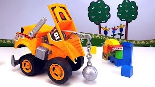 МОЩНЫЙ РАЗРУШИТЕЛЬ КРУШИЛО Машинка Machbox Веселый обзор игрушек для детей Dump truck Toys for kids